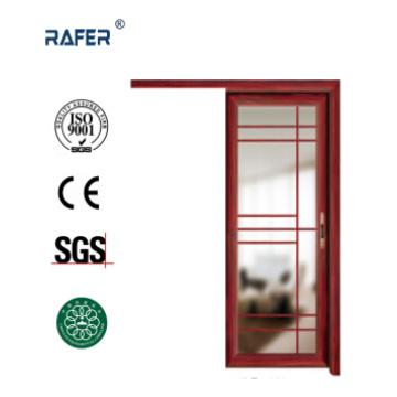 Puerta de vidrio de aluminio con un riel deslizante (RA-G001)