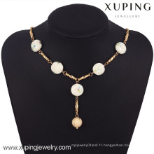 42770 Xuping Fashion Jewelry 18k or jade collier pour femme