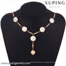 42770 Xuping Fashion Jewelry 18k Colar De Jade De Ouro Para A Mulher