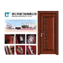 Porta do MDF da porta de madeira do folheado da entrada (LTS-311)