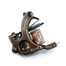 Brass Carving Tattoo Machines Gun