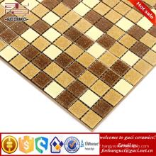 China factory supply yellow mixed Hot - melt mosaic bathroom floor wall tile
