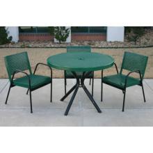 Mesa de centro de mesa decorativo jardim de Metal de folha perfurada