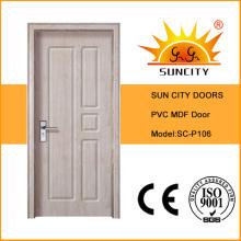 Swing Open Style y acabado en superficie acabado PVC Door (SC-P106)