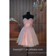 IN STOCK Off-The-Shoulder party dress women's short Pink prom dress SE07