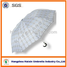 Zhejiang Supplier Check Pattern 2 parapluie pliant pour la pluie