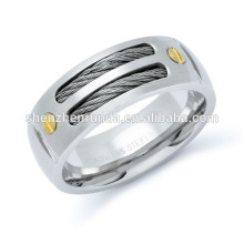 ZWEI TONE KABEL INLAY STAINLESS STEEL RING China Factory