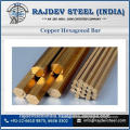 Superior Quality Copper Hexagonal Bar at Affordable Price