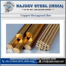 De buena calidad y uso de fábrica de cobre barra hexagonal para la venta