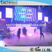 Eachin vente chaude hd afficher murs vidéo P4 intérieur mur vidéo LED pour boîte de nuit