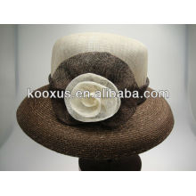 Шляпа шапочки Sinamay сделанная в Кита