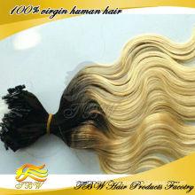 elegante duas cores brasileiras ombre micro loop anel extensão do cabelo