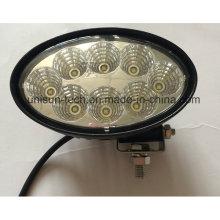 142 milímetros oval 12V impermeável 40W luz de trabalho marinho LED