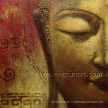 Décoration murale Handmde Buddha Oil Painting (BU-023)