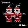 FashionMe bijoux Noël perles Boucles d'oreilles