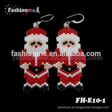 Fashionme handgefertigte Schmuck Weihnachten Perlen Ohrringe