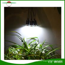 Sistema de iluminación solar portátil interior o interior portátil de 4W con tres bombillas LED para acampar y otras actividades al aire libre
