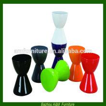 2014 nouveau style moderne haute brillance finition fibre de verre chaise AM-R009