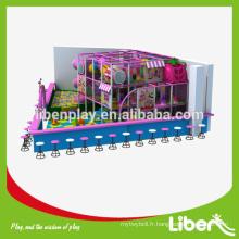 Zone de jeu Design Shopping Center Children Commercial Équipement de terrain de jeu intérieur en couleur rose Parc à thème