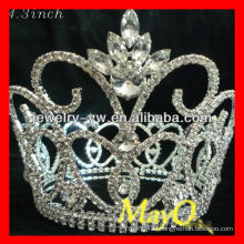 Grande couronne de tiare de concours de fleurs de cristal à vendre