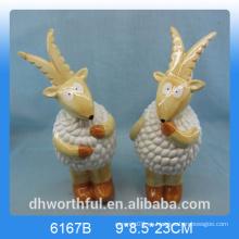 Estatuilla de ovejas de cerámica creativa, decoración de ovejas de cerámica, statu de cerámica
