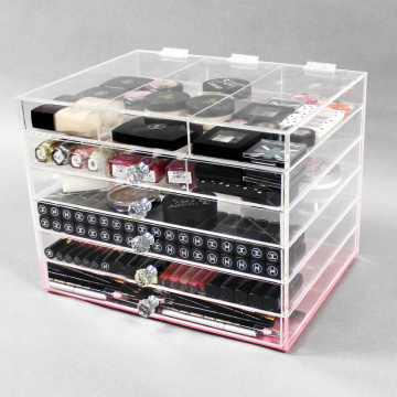 Doorzichtige acryl make-up Storage Organizer Cube