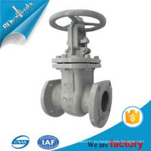 Solamente la válvula de compuerta estándar gustada del casted en acero de carbón con la rueda de mano