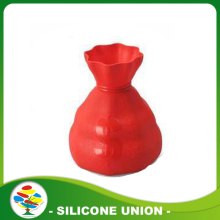 Silicone custom piggy bank with vase shape