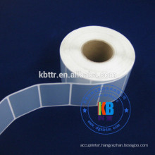 Adhesive sticker type barcode printed label matt silver polyester label