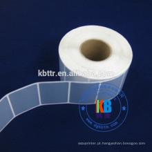 Etiqueta adesiva de código de barras impresso rótulo de poliéster prata mate