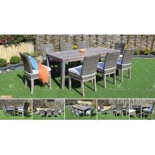 KANARISCHE KOLLEKTION - 2017 Neues Design Poly Rattan Wicker Outdoor Gartenmöbel Tisch und Stühle Ess-Set