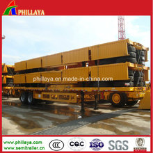 2016 Sidewall Detachable Container Bulk Cargo Loading Flat Bed Trailer