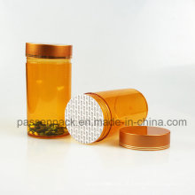 Amber Pet Plastik Medizin Flasche für Kapsel Verpackung (PPC-PETM-003)