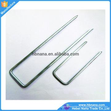 Flat Point Garden Staples / U Shaped Turf Nails / Turf Pins