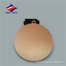 Remise des médailles sportives personnalisées en forme ronde de haute qualité