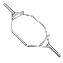 High Quality Fitness Power Weightlifting Silver Hex Barbell