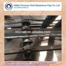 ASTM A179 Бесшовные стальные трубы С пластиковой крышкой окрашены слова