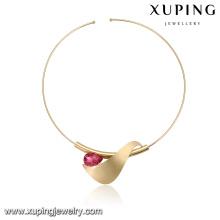 necklace-00340 collier tour de cou en cristal avec bijoux fantaisie