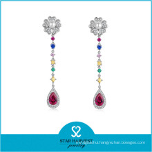 Elegant Stylish Wholesale Silver Rhodium Gemstone Jewelry (E-0264)