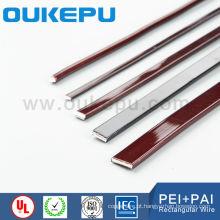 Fio de enrolamento retangular EIW PEI, fio retangular esmaltado, fio de alumínio esmaltado retangular