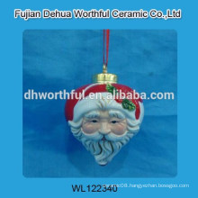 Lovely ceramic santa claus shaped christmas hanging