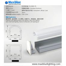 Carcasa de perfil cuadrado de aluminio de 20x20mm con cobertura de difusor lechoso