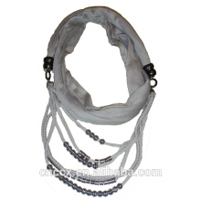 PK17ST172 neuesten Design Perlen Halskette Dame Schal