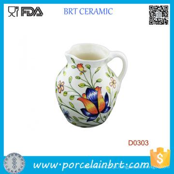 Jarro de leite em cerâmica decorativa bonita de 800 ml