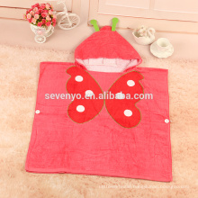100%cotton butterfiy print design baby hooded beach towel