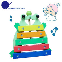Criança Instrumentos Musicais Madeira Frog Toy Xilofone