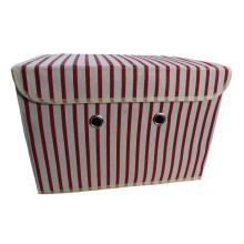 Cotton Fabric Cube Storage Bin