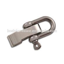 Moda alta qualidade metal ajustável fivela paracord pulseira grilhão