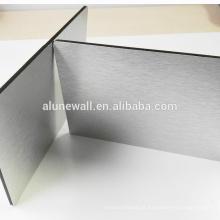 Escovado prata acm / acp revestimento para preço de material de construção