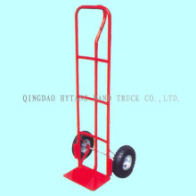 "simple hand trolley,10x3.5"" air wheel,toe plate width 220mm"